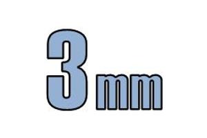 3mm undersænket hoved DIN 7991 10.9 Sort