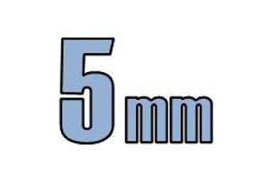 5mm undersænket hoved DIN 7991 10.9 Sort