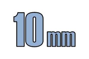 10mm undersænket hoved DIN 7991 10.9 Sort