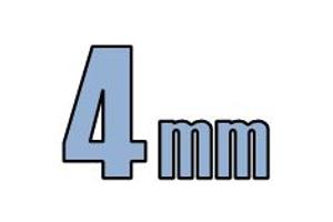 4mm undersænket hoved DIN 7991 10.9 Sort