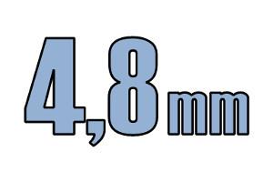 4,8mm pladeskrue DIN 7981C A2 PH PZ/Torx Rustfri