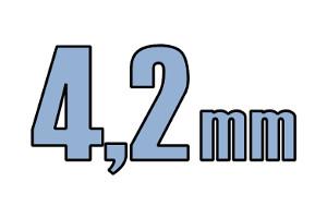 4,2mm boreskrue DIN 7504K FZB 6 kt. El-galv.