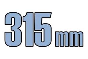 315mm brøndgods kl. B 12,5T