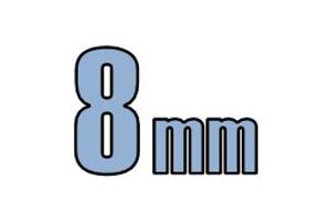 8mm buttonhead DIN 7380-1 A2 Rustfri