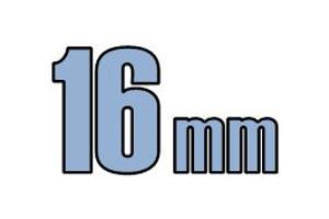 16mm undersænket hoved DIN 7991 10.9 Sort