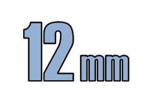 12mm undersænket hoved DIN 7991 10.9 Sort